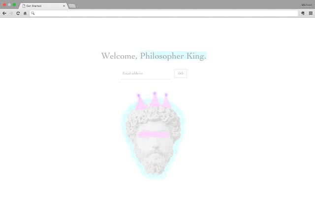 Philosopher King - New Tab