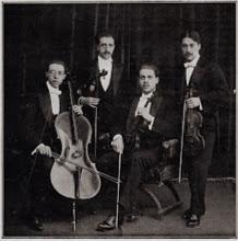 """Photo: El """"Quartet Renaixement"""" l'any 1915. Concerts a la Sala Mozart."""