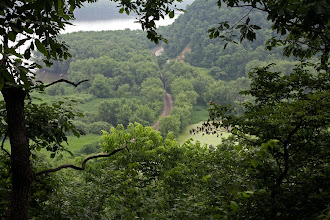 Photo: Effigy Mound National Monument - Hazy day, but I climbed all the way up there!