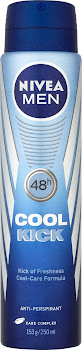 Nivea Men Cool Kick Antiperspirant Deodorant - 250ml