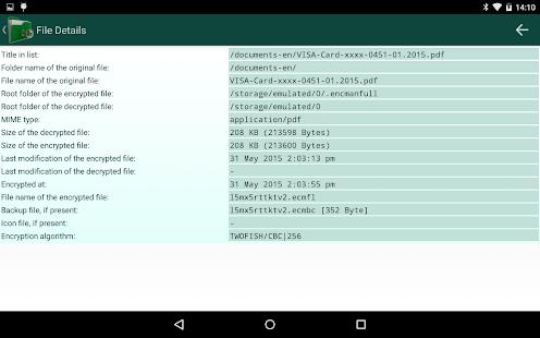 Encryption Manager - screenshot thumbnail