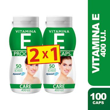 Oferta E Vitamina E   Procaps 400UI Cápsulas Frasco x50Cáp. 2X1