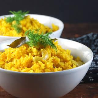 Savory Mango Pilaf with Cashews.