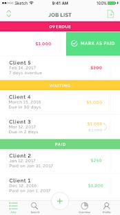 Tycoon Freelance job tracking - náhled