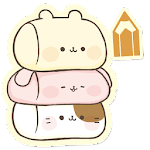 Sticky Notes Cute Characters Icon