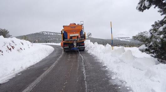 ¡Cuidado!: carreteras cortadas por nieve en la provincia