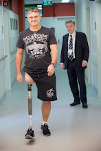 Photo: Steven Gray, Director (Osseointegration) with a patient