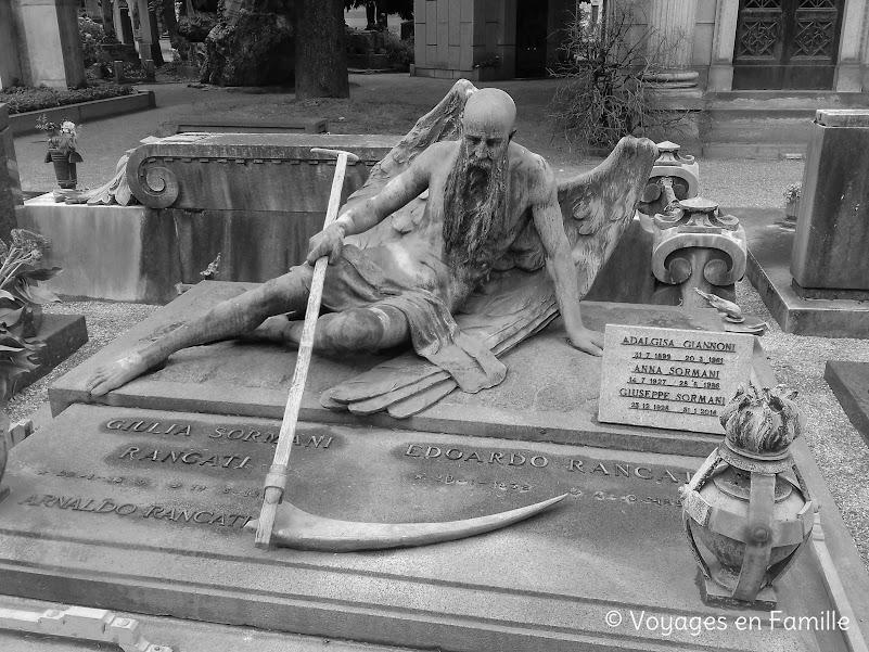 Cimetière Monumental Milan - Faucheur
