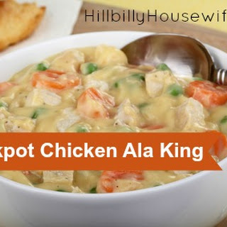Crockpot Chicken Ala King.