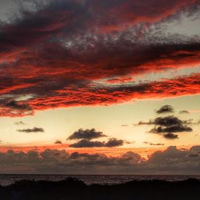 Sunset by Olivier Grau - Landscapes Sunsets & Sunrises ( clouds, red, sky, colors, sunset,  )