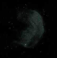 """Photo: NGC 3324, nébuleuse """"Gabriela Mistral"""", dans la constellation de la Carène. T406 à 88X en OIII le 7 août 2018. Depuis l'Afrique du Sud (Vryburg, Savannah Suntours), ciel superbe."""