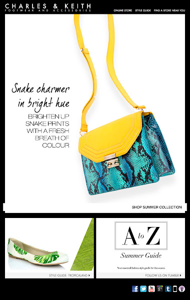 Photo: Brighten up snake prints with a fresh breath of colour