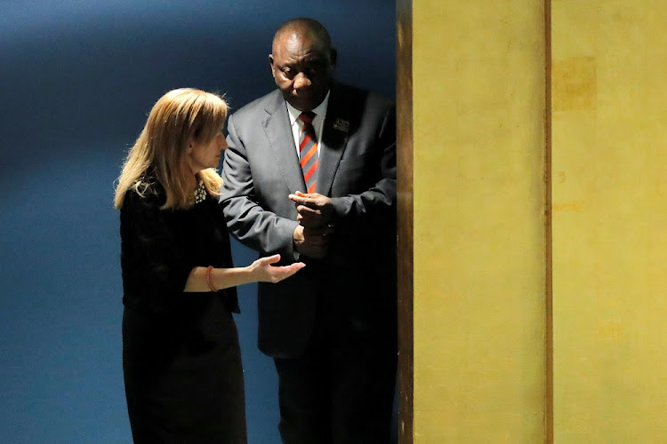 President Cyril Ramaphosa at the UN in New York, the US, September 24 2018. That his stimulus package is modest in monetary terms is not necessarily a bad thing. Picture: REUTERS/LUCAS JACKSON