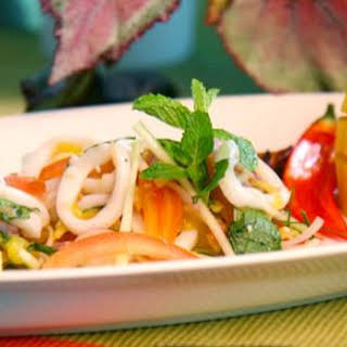 Grilled Calamari Salad.