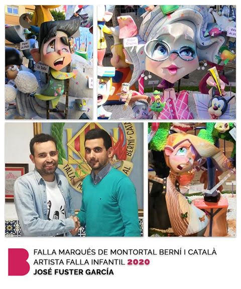 José Fuster y Daniel Barea artistas falleros 2020 de Marques de Montortal-Berní i Catalá