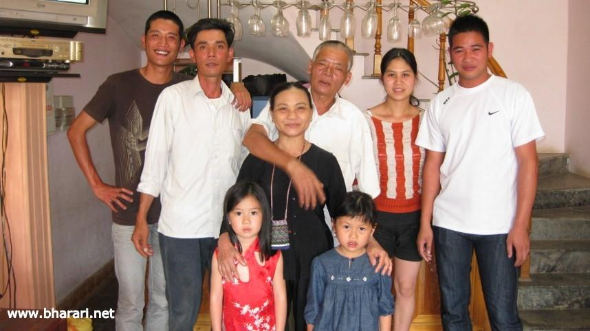 The family that owned the hotel I stayed at in Sapa