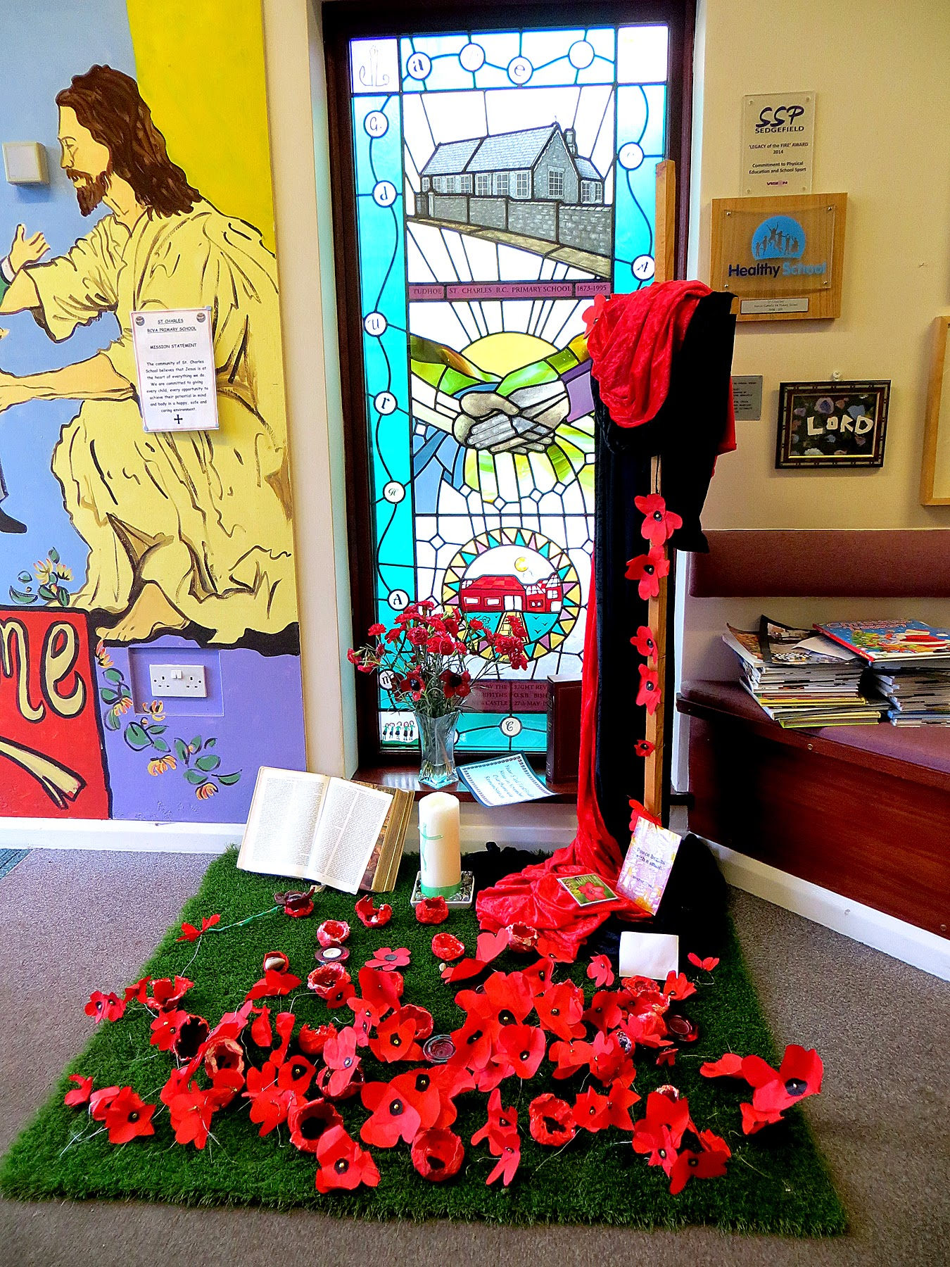 Photo: St Charles RC School tribute to our fallen heros