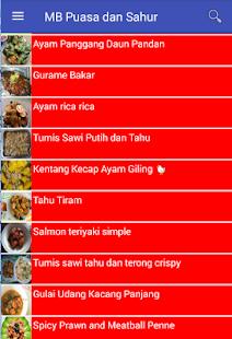 Menu Buka Puasa dan Sahur - náhled