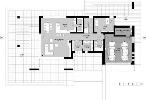 New House 21 - Rzut parteru