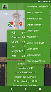 Islamic Prayer Times Qibla Salat Locator Screenshot