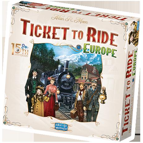 Ticket To Ride: Europe 15th Anninersary. Ed. English (Q2)