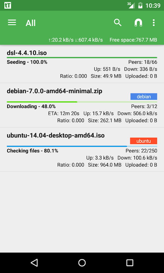 tTorrent Lite - Torrent Client- screenshot