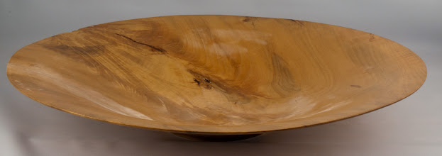 "Photo: Phil Brown -18 3/4"" x 3"" flame vessel [maple]"