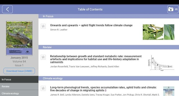 Journal of Animal Ecology- screenshot thumbnail