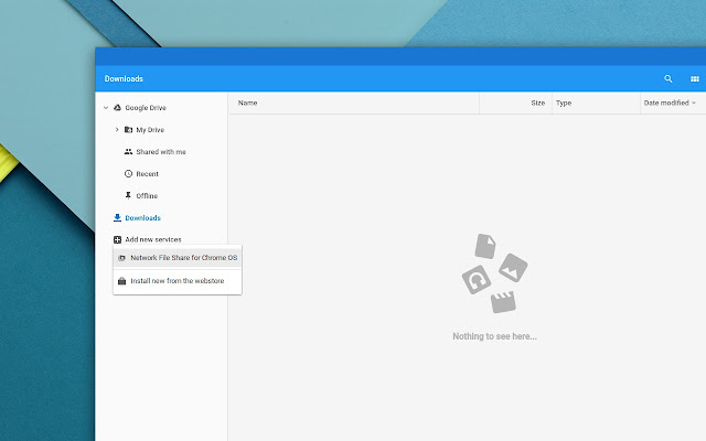Network File Share for Chrome OS Screenshot
