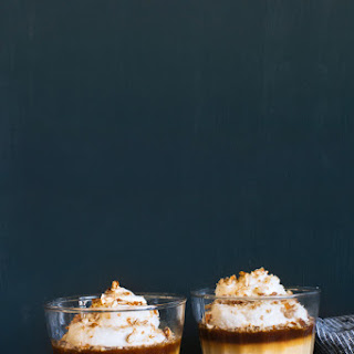Butterscotch Budino with Salted Caramel and Pretzel Crumble