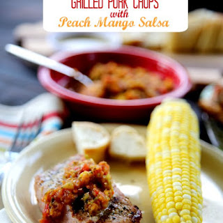Grilled Pork Chops with Peach Mango Salsa Recipe