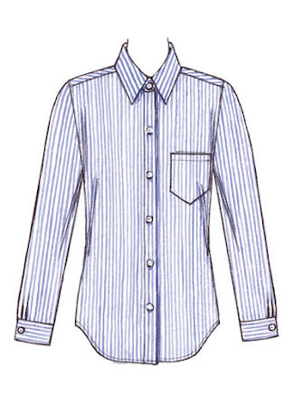 Skjorta Kwik Sew 3555