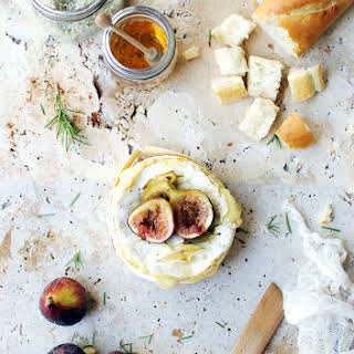 Baked Brie Fondue with Roasted Figs.