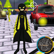 Bat Stickman Rope Hero Gangstar Crime