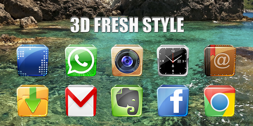 android 3D Fresh Style-Solo Theme Screenshot 0