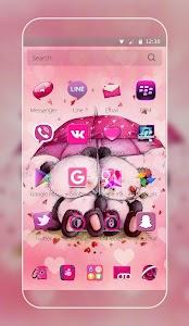 Pink Love Bear Theme screenshot 1