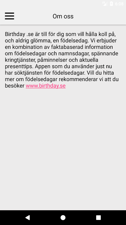 hitta nu födelsedag Birthday.se – Android Apps on Google Play hitta nu födelsedag