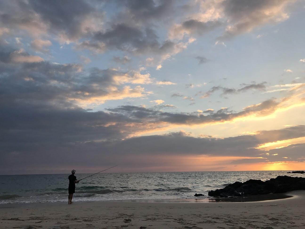 Coucher de soleil sur Hapuna Beach