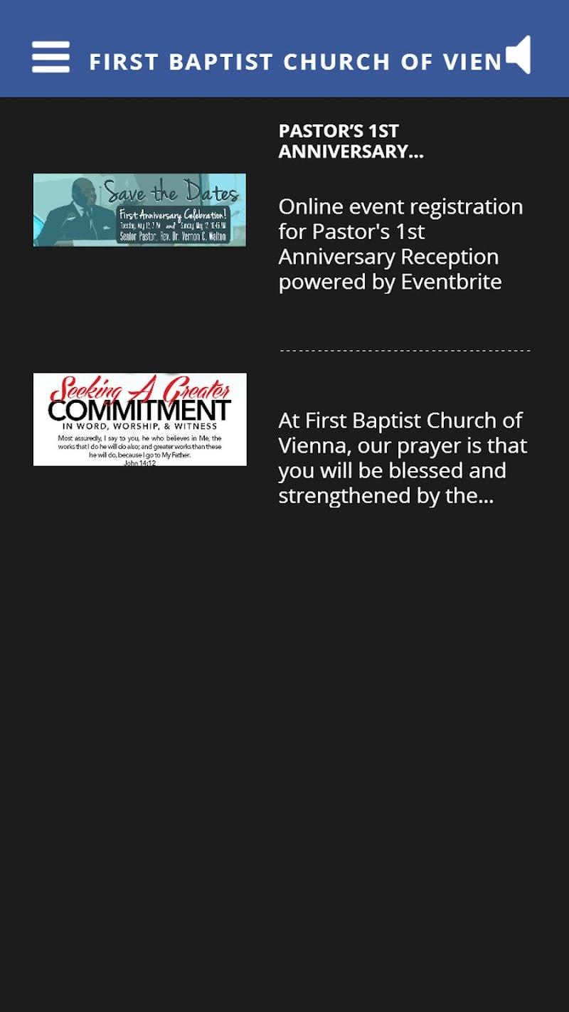 Скриншот First Baptist Church of Vienna