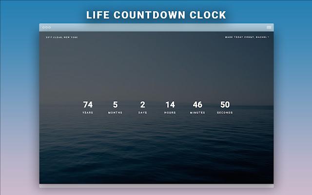 Worthwhile: New Tab Life Countdown Clock