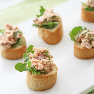 Salmon Salad Crostini