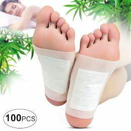 Set 100 plasturi homeopati cu turmalina pentru detoxifiere Kinoki