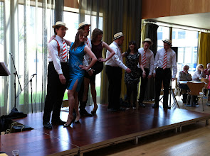 Photo: Close Shave and The Canterberries performing on the foyer-stage on day five of Summer Music Week.
