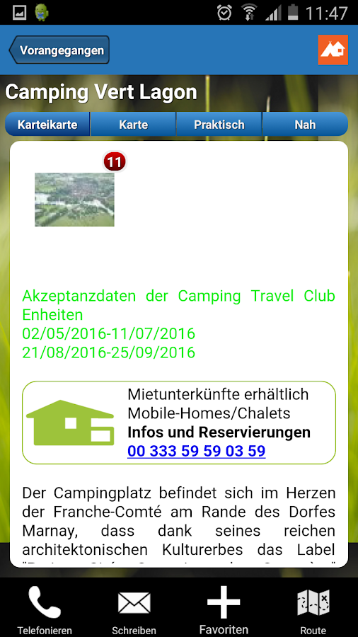 Camping Travel Club- screenshot