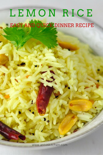 Lemon rice a quick dinner ideas in 30 minutes antos kitchen lemon rice forumfinder Choice Image