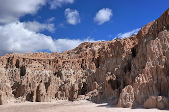 Photo: The source of this ash, the Caliente Caldera Complex, lies to the south of Cathedral Gorge.