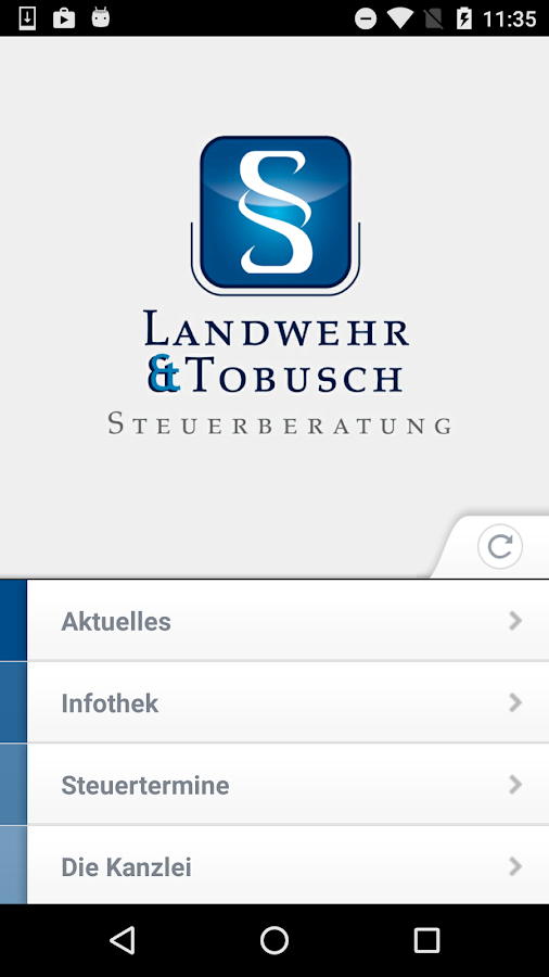 Landwehr Steuerberater- screenshot