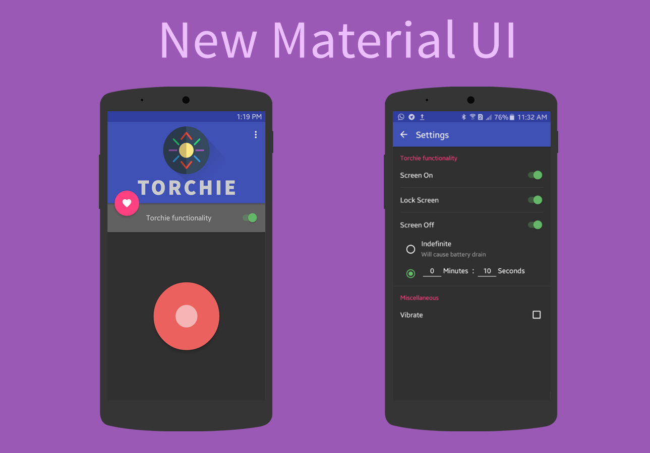 Torchie - Volume Button Torch- screenshot
