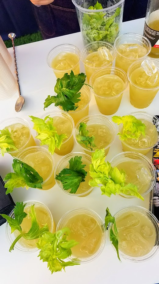 Review of Feast PDX Smoked 2017, Drinks from House Spirits Distillery like a Smoked Pineapple Daiquiri with the amazing Smoked Pineapple Casa Magdalena Rum, Blaze Pascale with Krogstad Aquavit and Lemon and Smoked Tea and Celery, and Westward Whiskey Neat