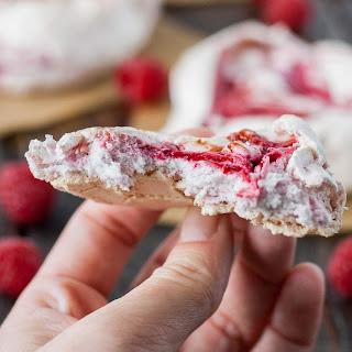 Chewy Raspberry Meringues.